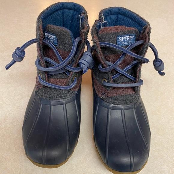 Girls Sperry Saltwater Duck Boots
